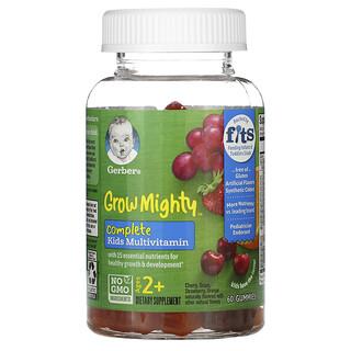 Gerber, Grow Mighty(グロウマイティ)、コンプリート子ども用マルチビタミン、2歳以上用、グミ60粒