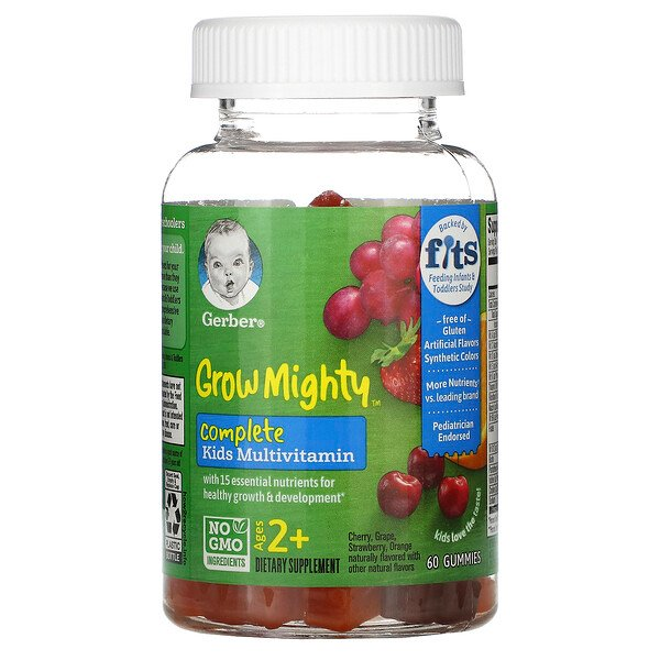 Grow Mighty, Complete Kids Multivitamin, Ages 2+,  60 Gummies