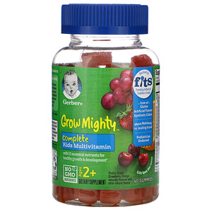Gerber, Grow Mighty, Complete Kids Multivitamin, Ages 2+,  60 Gummies