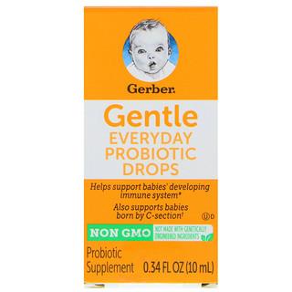 Gerber, Gentle, Everyday Probiotic Drops, Birth+, 0.34 fl oz (10 ml)