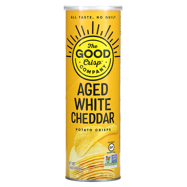 The Good Crisp Company, Potato Crisps, Aged White Cheddar, 5.6 oz (160 g)