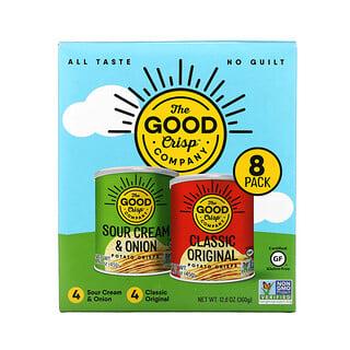 The Good Crisp Company, Potato Crisps, Variety Pack, 8 Count, 1.6 oz (45 g) Each