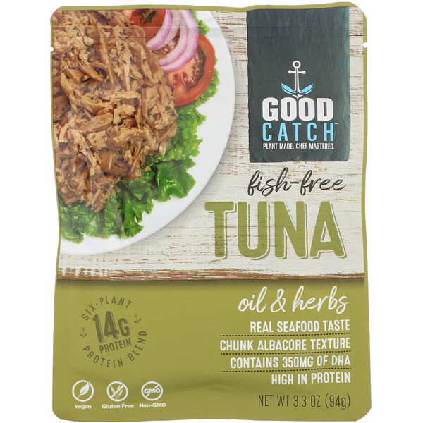 Good Catch, Fish-Free Tuna, Oil & Herbs, 3.3 oz (94 g)