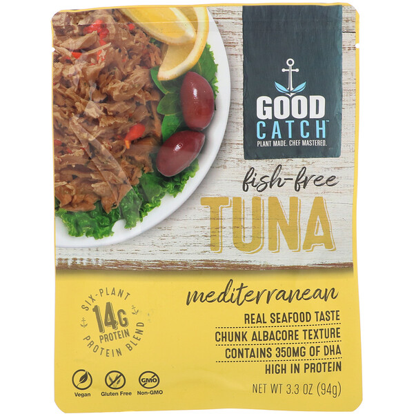 Good Catch, Fish-Free Tuna, Mediterranean, 3.3 oz (94 g)
