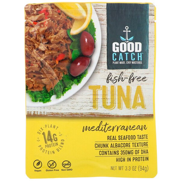 Good Catch, Fish-Free Tuna, Mediterranean, 3.3 oz (94 g) (Discontinued Item)
