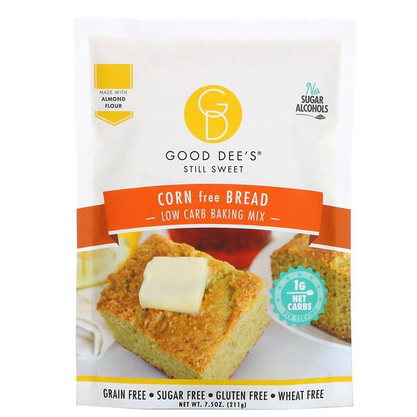 Good Dee's, Low Carb Baking Mix, Corn Free Bread, 7.5 o z (211 g)