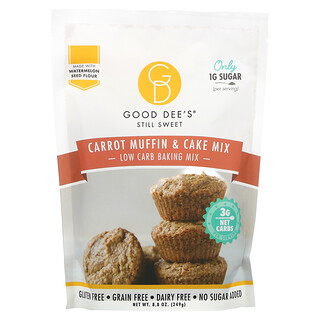 Good Dee's, Low Carb Baking Mix, Carrot Muffin & Cake Mix, 8.8 oz (249 g)
