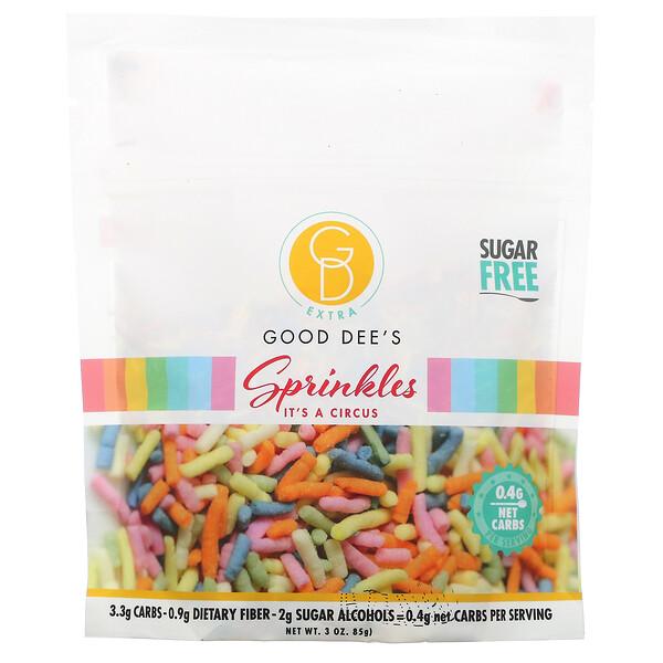 Sprinkles, Sugar Free, It's A Circus, 3 oz (85 g)