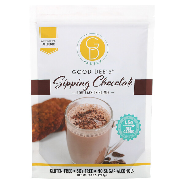 Low Carb Drink Mix, Sipping Chocolate, 9.2 oz (260 g)