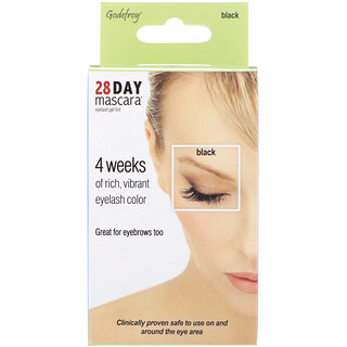 Godefroy, 28 Day Mascara, Eyelash Gel Tint Kit, Black, 25 Application Kit