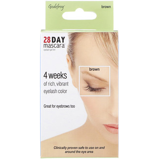 Godefroy, 28 Day Mascara, Eyelash Gel Tint Kit, Brown, 25 Application Kit