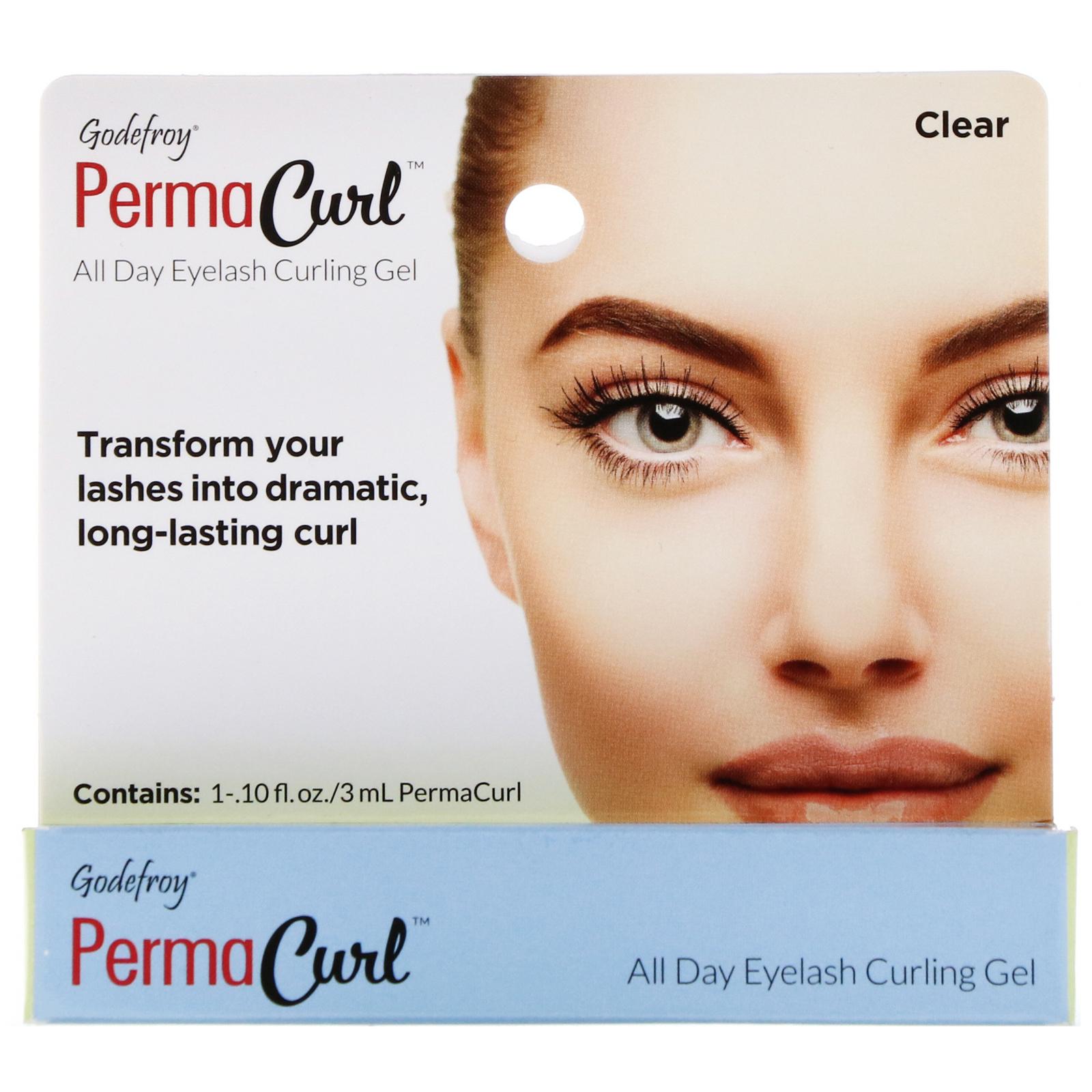 15b589a5eaa Godefroy, PermaCurl, All Day Eyelash Curling Gel, Clear, 0.10 fl oz (3 ml)