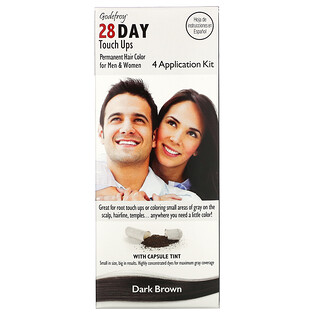 Godefroy, 28 Day Touch Ups, Dark Brown, 4 Application Kit