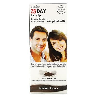 Купить Godefroy 28 Day Touch Ups, Medium Brown, 4 Application Kit