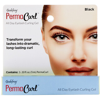 Godefroy, PermaCurl, All Day Eyelash Curling Gel, Black, 0.10 fl oz (3 ml)