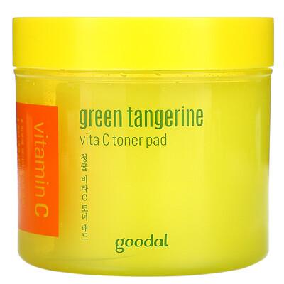 Goodal Green Tangerine, Vita C Toner Pad, 4.73 fl oz (140 ml)