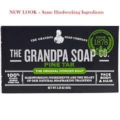 Grandpa's, Face Body & Hair Bar Soap, Pine Tar, 3.25 oz (92 g)
