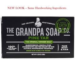 Grandpa's, Savon pour le corps, le visage et les cheveux, résine de pin, 4,25 oz (120 g)