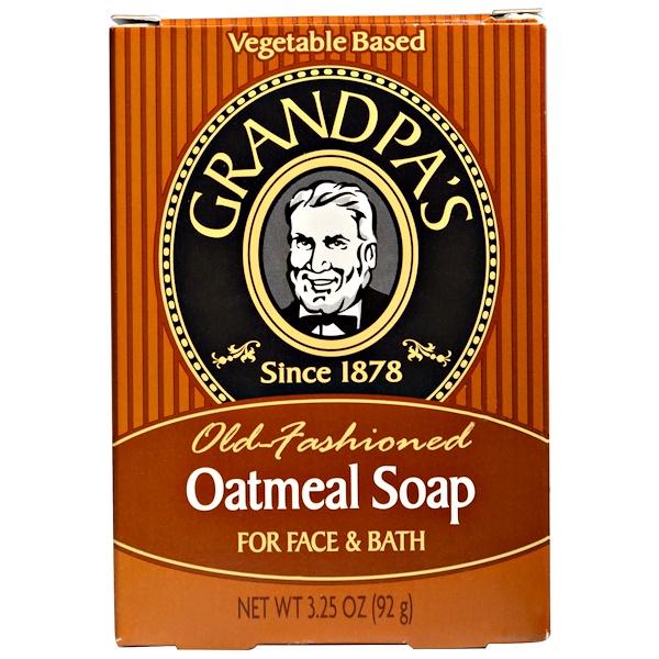 Grandpa's, Oatmeal Soap, 3.25 oz (92 g) (Discontinued Item)