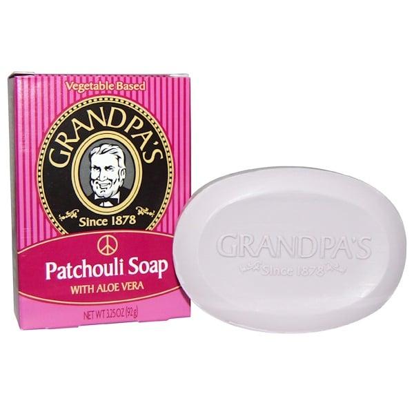 Grandpa's, Patchouli Soap, 1 Bar, 3.25 oz (92 g) (Discontinued Item)
