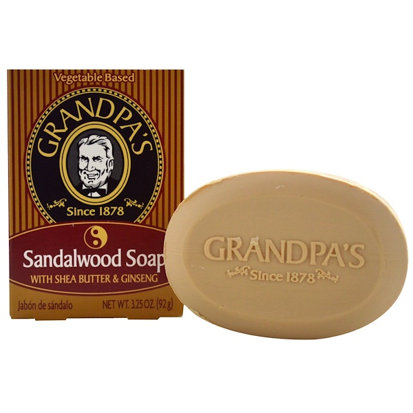 Grandpa's, Sandalwood Soap with Shea Butter & Ginseng, 3.25 oz (92 g) (Discontinued Item)