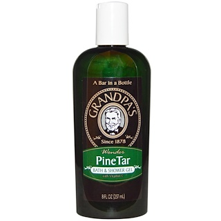 Grandpa's, Bath & Shower Gel, Pine Tar, 8 fl oz (237 ml)
