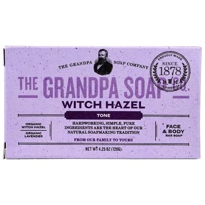 Купить Кусковое мыло для лица и для тела, тонизирующее, с гамамелисом, 4, 25 унции (120г)