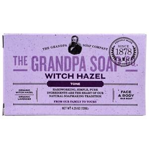 Грэндпа, Face & Body Bar Soap, Tone, Witch Hazel, 4.25 oz (120 g) отзывы покупателей