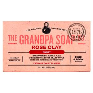 Грэндпа, Face & Body Bar Soap, Purify, Rose Clay, 4.25 oz (120 g) отзывы покупателей