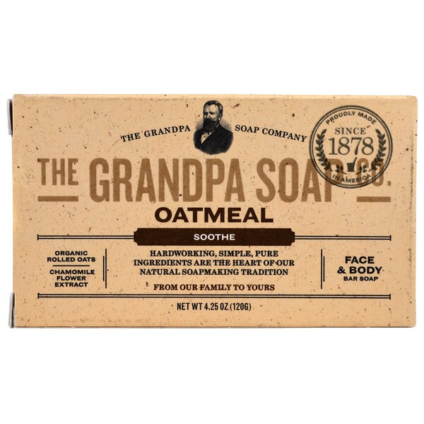 Face & Body Bar Soap, Soothe, Oatmeal, 4.25 oz (120 g)