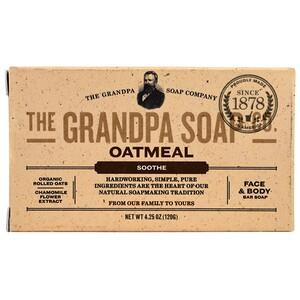 Грэндпа, Face & Body Bar Soap, Soothe, Oatmeal, 4.25 oz (120 g) отзывы