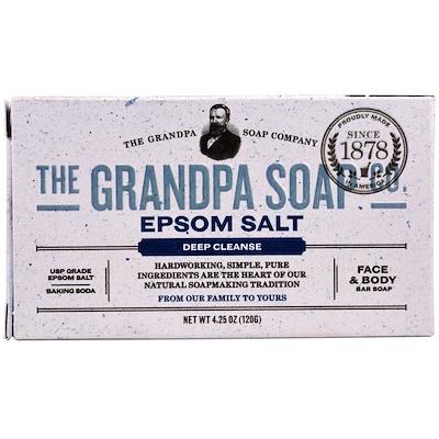 Купить Кусковое мыло для лица и для тела, глубоко очищает, с английской солью, 4, 25 унции (120г)