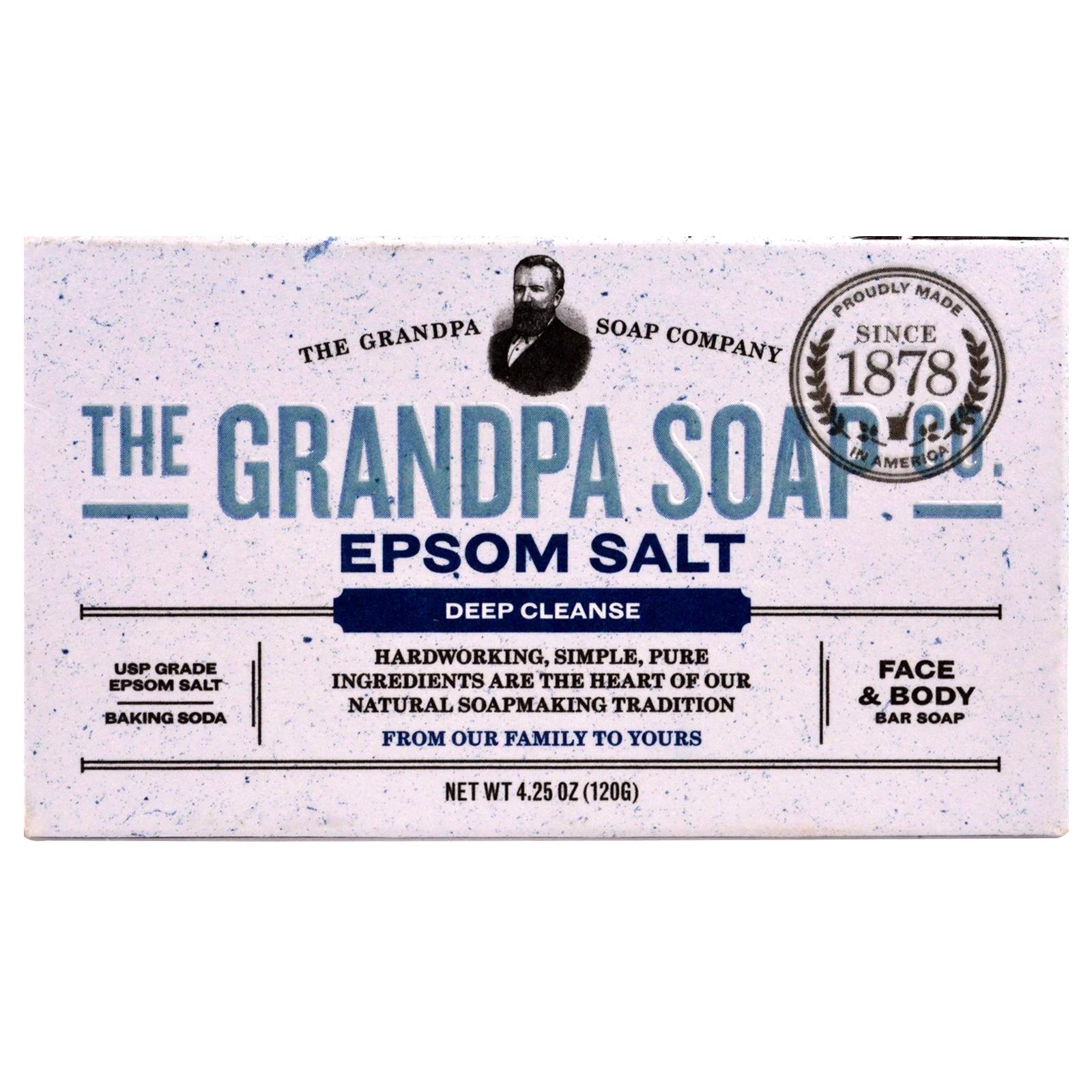 Face Body Bar Soap Deep Cleanse Epsom Salt 4 25 Oz 120 G Iherb