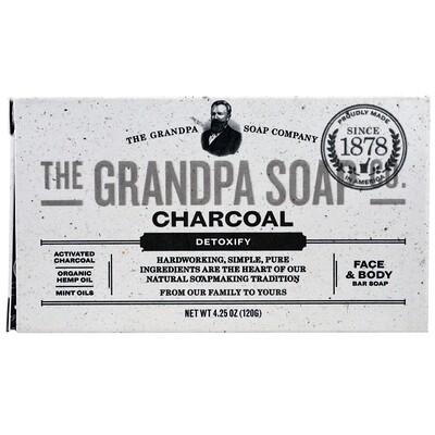Кусковое мыло для лица и для тела, антитоксичное, с древесным углем, 4,25 унции (120г) мыло кусковое knossos с активированным углем 100 г