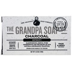 Grandpa's, Кусковое мыло для лица и для тела, антитоксичное, с древесным углем, 4,25 унции (120г)