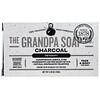 Grandpa's, Jabón en barra para la cara y el cuerpo, desintoxicador, carbón de leña, 4.25 onzas (120 g)