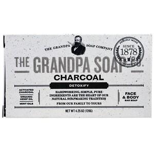 Грэндпа, Face & Body Bar Soap, Detoxify, Charcoal, 4.25 oz (120 g) отзывы покупателей