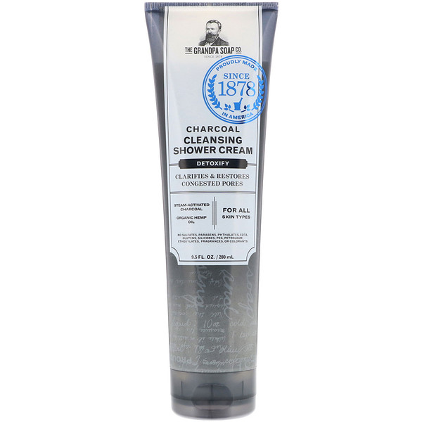 Grandpa's, Charcoal Cleansing Shower Cream, Detoxify, 9.5 fl oz (280 ml)