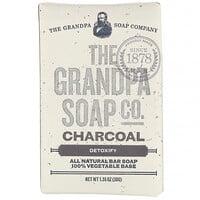 Grandpa's, قالب صابون الوجه والجسم، إزالة السموم، فحم، 1.35 أونصة (38 جم)