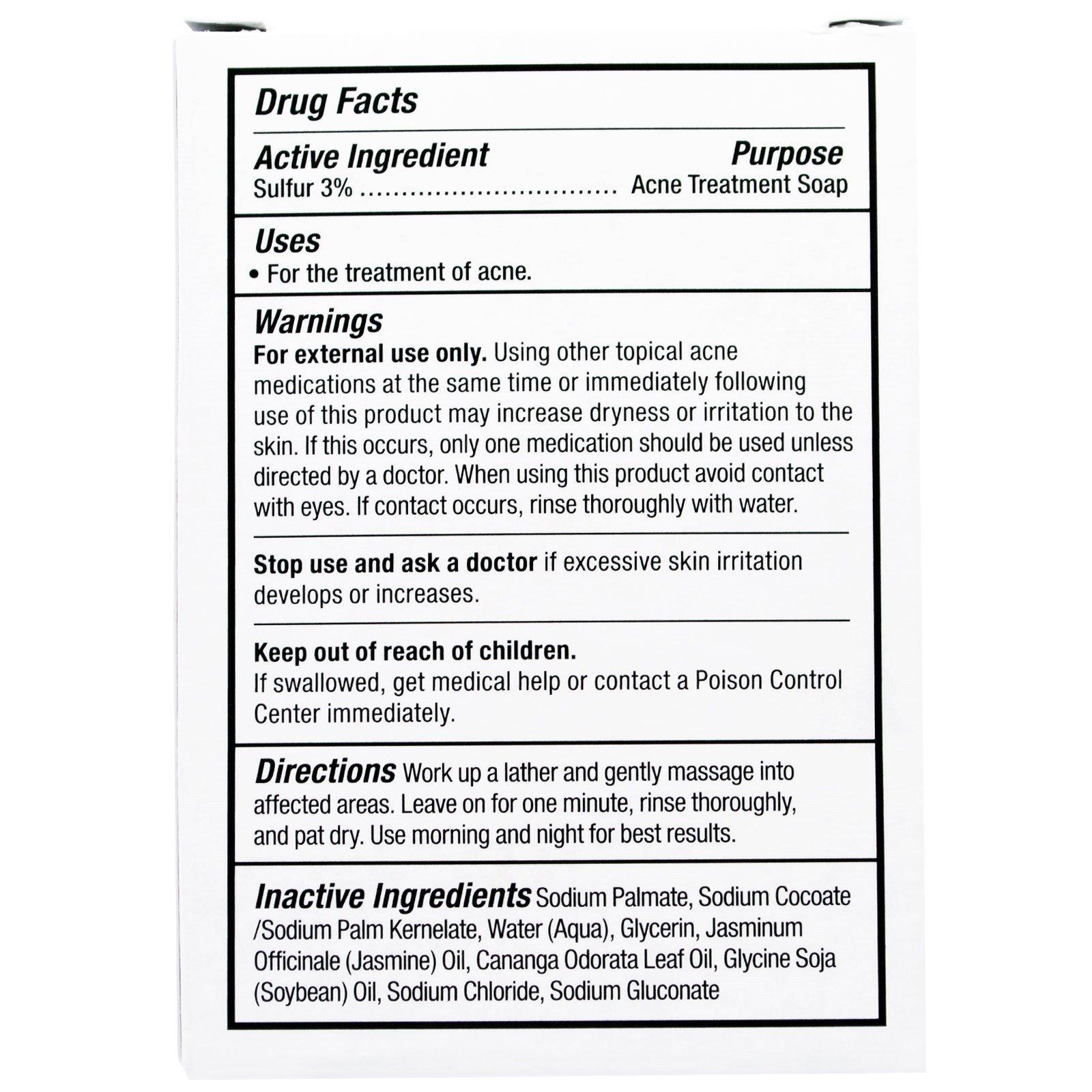 Grandpa's, Face & Body Bar Soap, Thylox Acne Treatment,3 25