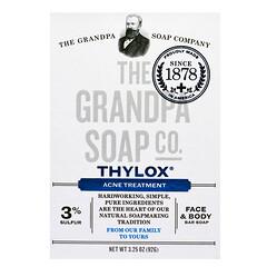 The Grandpa Soap Co., Thylox痘痘緩解面部和身體皂,3.25盎司(92克)