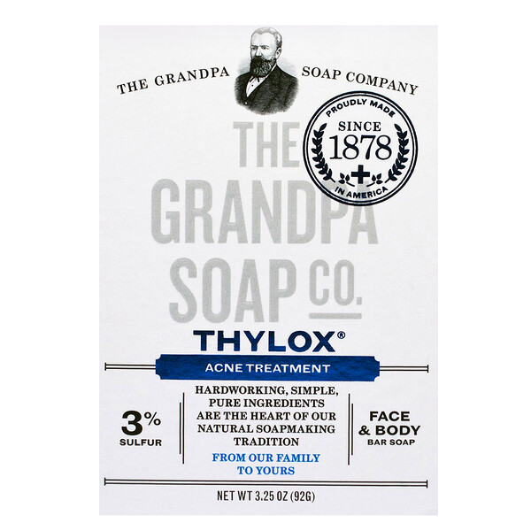 Face & Body Bar Soap, Thylox Acne Treatment,3.25 oz (92 g)