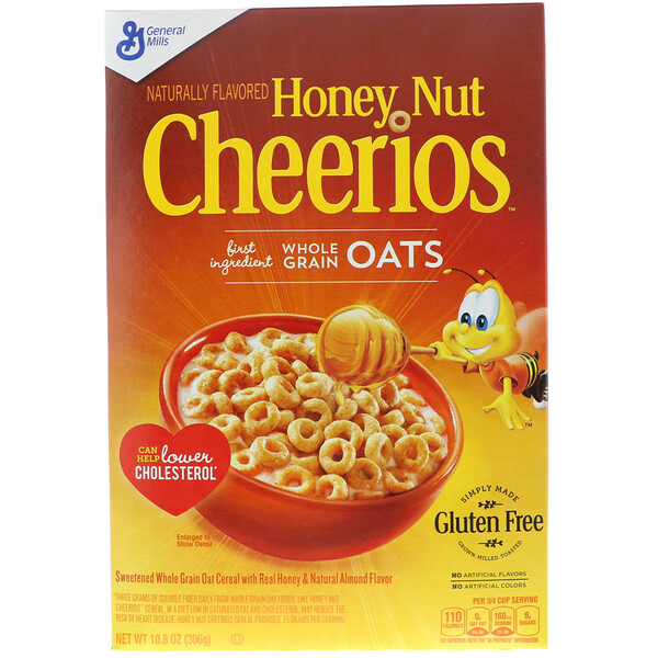 General Mills, Honey Nut Cheerios, 10,8 унций (306 г)