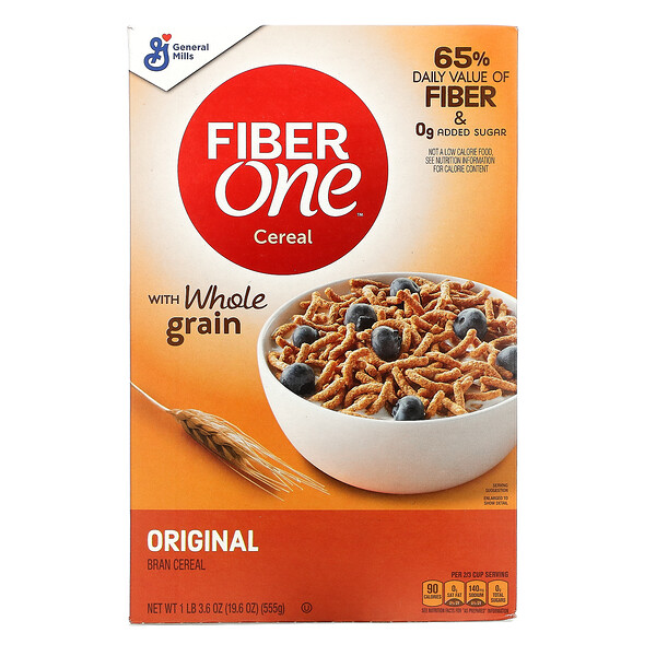 General Mills, Fiber One Cereal with Whole Grain, Original , 19.6 oz (555 g)