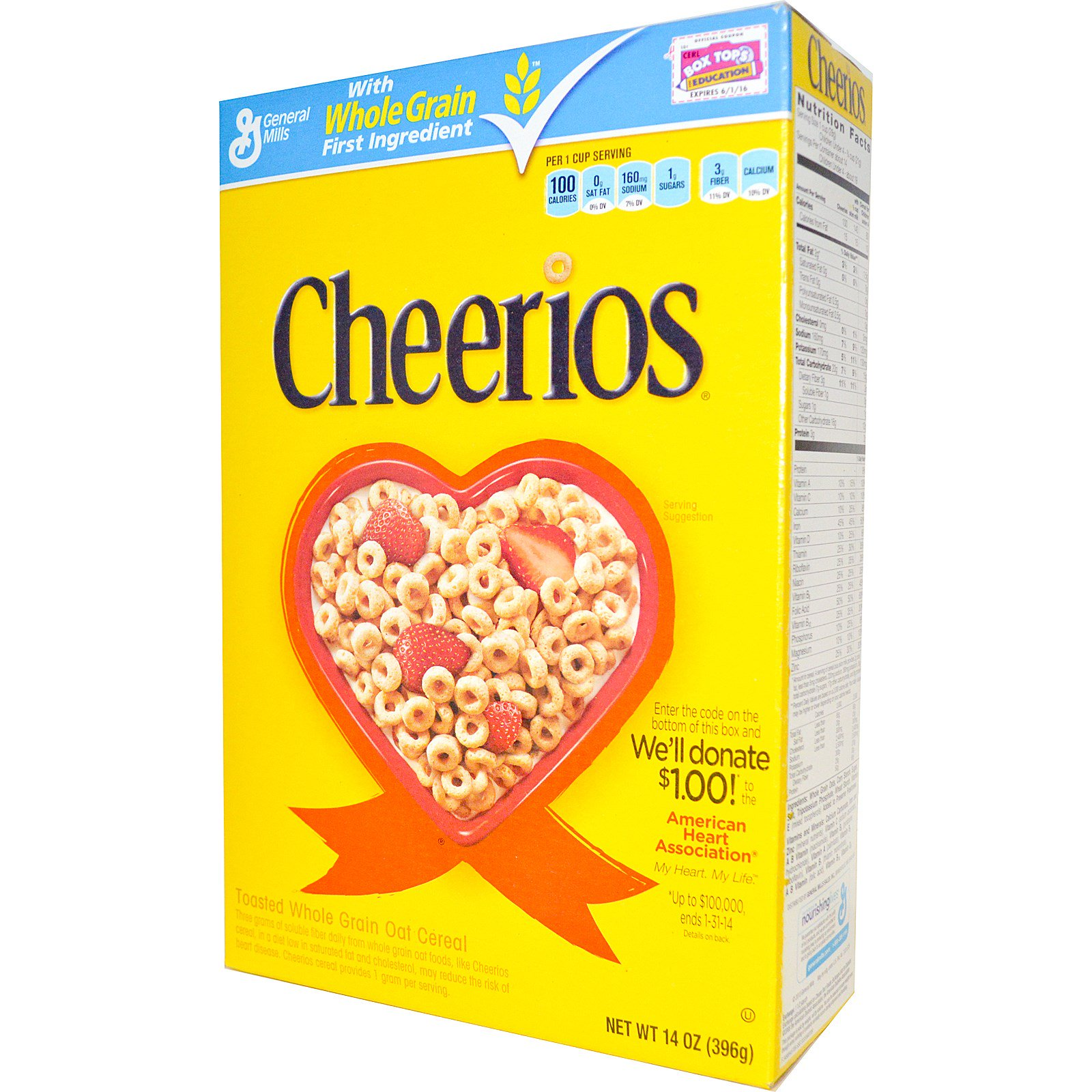 General Mills, Cheerios, 14 oz (396 g