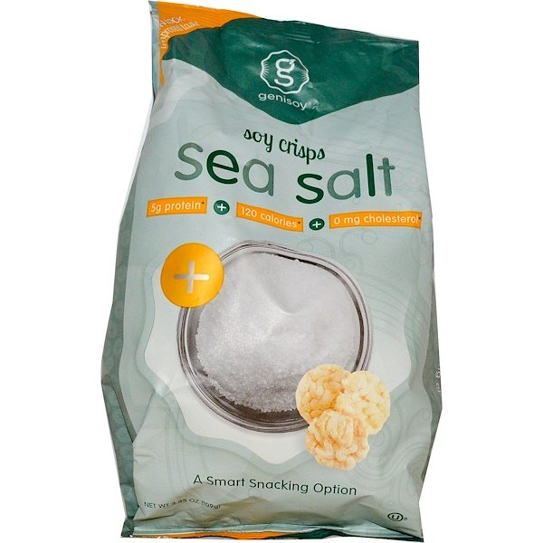 GeniSoy Products, Soy Crisps, Deep Sea Salted, 3.85 oz (109 g) (Discontinued Item)