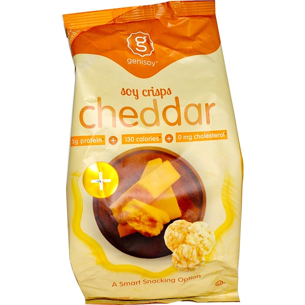 GeniSoy Products, Soy Crisps, Rich Cheddar Cheese, 3.85 oz (109 g) (Discontinued Item)