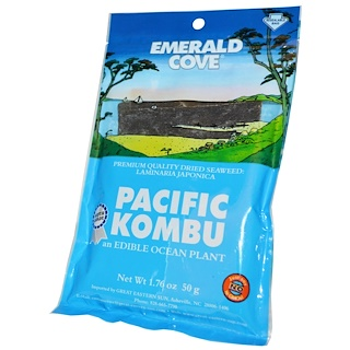 Great Eastern Sun, Pacific Kombu, Dried Seaweed, 1.76 oz (50 g)