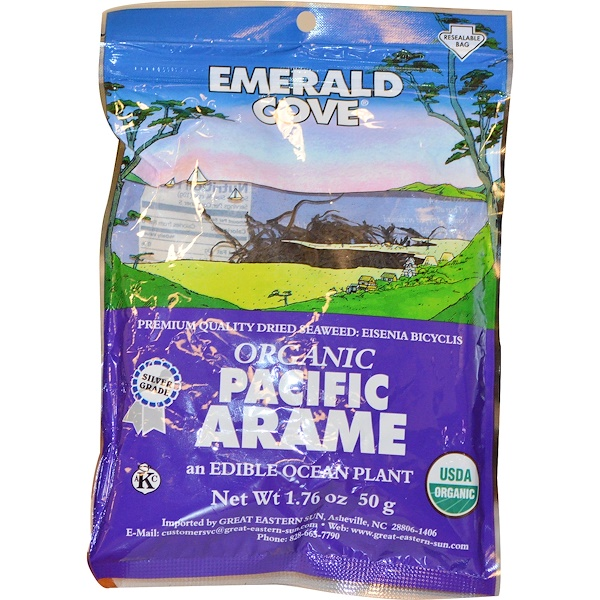Great Eastern Sun, Emerald Cove, Organic Pacific Arame, 1.76 oz (50 g) (Discontinued Item)