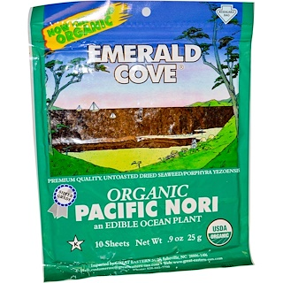 Great Eastern Sun, Emerald Cove, Organic Pacific Nori, 10 Sheets, 0.9 oz (25 g)